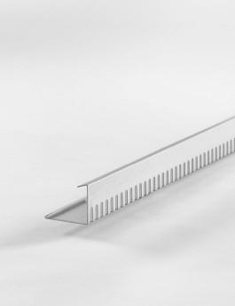 b/s/t PVC-ALU-Kiesfangleiste 90 mm hellgrau