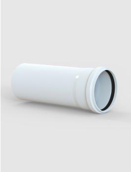 PVC Muffenrohr DN 125 Länge: 600 mm