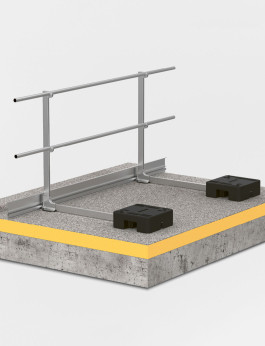 BARRIAL Aluminium guardrail system / Type: self-supporting (DIN EN 13374)